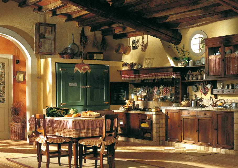 Кухня оазис в стиле кантри