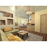 Дизайн-проект кухни, совмещенной с гостиной
