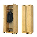 Шкаф для белья со штангой