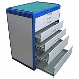 Металлический шкаф для инструмента, 7 выдвижных ящиков, 745х510х895