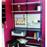 Стеллажная система с рабочим местом для детской