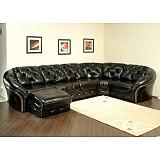 Угловой диван «Кредо Д`Люкс 5» с обивкой из кожи