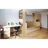 Мебель для детской с рабочей и спальной зоной