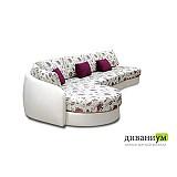 Угловой диван с закруглением 505