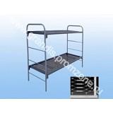 Кровать металлическая двухъярусная, для рабочих, строителей, вахтовиков 1900 х 700 мм