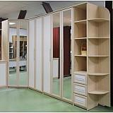 Угловой шкаф со складными дверями