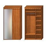 Офисный шкаф-купе Шк-12, 1200*600*2350, двухдверный с зеркалом