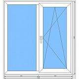 Стандартное двухстворчатое окно (Оптима)