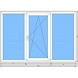 Стандартное трехстворчатое окно (Оптима)