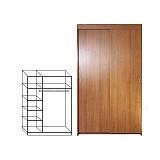 Офисный гардеробный шкафы-купе ШК 2/4-1200*456*2100 (лдсп)