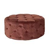 Пуфик розовый/оливковый/шоколадный бархат, коллекция «La truffe`»